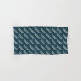 Simple Geometric Pattern 4 in Aqua Hand & Bath Towel