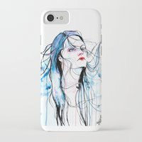 agnes cecile iPhone & iPod Cases featuring Agnes Cecile inspired painting  by SOLMONTASER