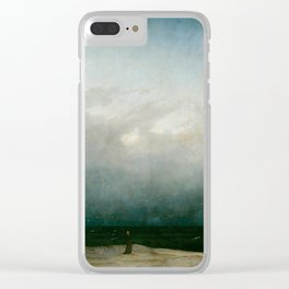 The Monk by the Sea by Caspar David Friedrich 1808 Clear iPhone Case