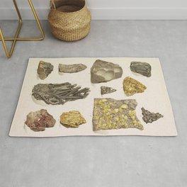 Vintage Gold Minerals Rug
