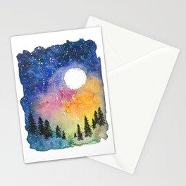 Boral Aurora Night Sky / Aurora Boreal Cielo Nocturno Stationery Cards