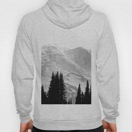 Mount Rainier Black and White Hoody