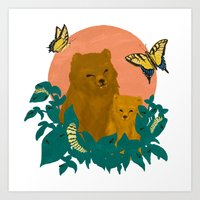 ABC in the Forest Art Print
