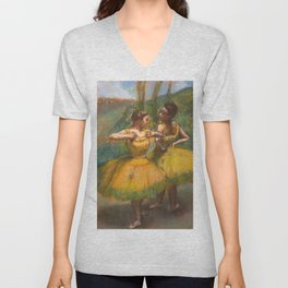 "Edgar Degas ""Two dancers in yellow"" Unisex V-Neck"