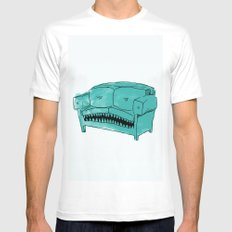 Hungry Couch MEDIUM White Mens Fitted Tee