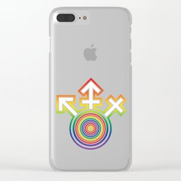 Universal Gay Pride LGBT Symbol Clear iPhone Case