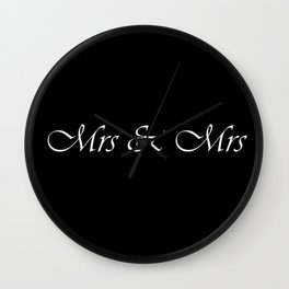 Mrs & Mrs Monogram Wall Clock