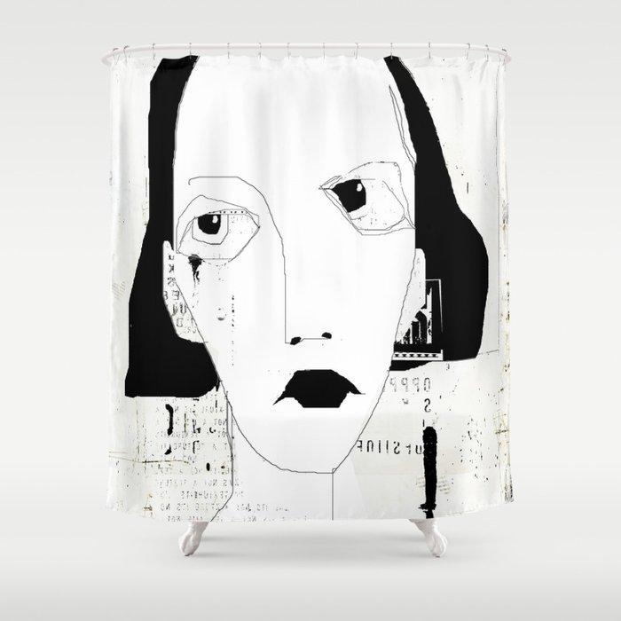 « portrait » Shower Curtain