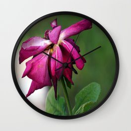 Wilted Beauty Wall Clock