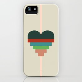 heart geometry iPhone Case