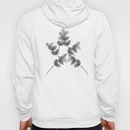 Nature Beauty , offwhite , purple, floral, flowers, leaves, botanical, pattern, decor, art, society6 Hoody