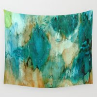 waterfall Wall Tapestries featuring Waterfall by Rosie Brown