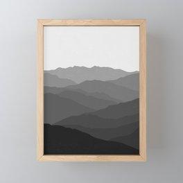 Shades of Grey Mountains Framed Mini Art Print