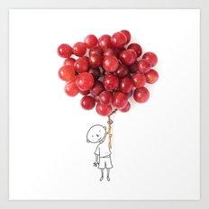 Boy with grapes - NatGeo version Art Print
