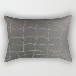 Crocodile silver skin Rectangular Pillow