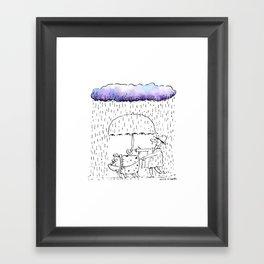 A Dogs Best Friend Framed Art Print