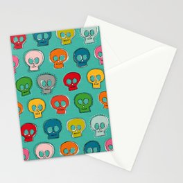 sew skully turquoise Stationery Cards