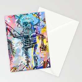 A digitally and roughly vectorised Jean Michel Basquiat Stationery Cards