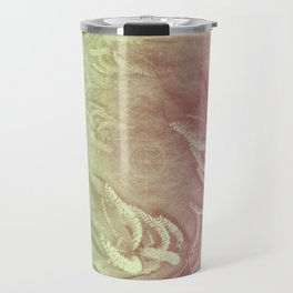 Pink and green wattle and kaleidoscope Travel Mug