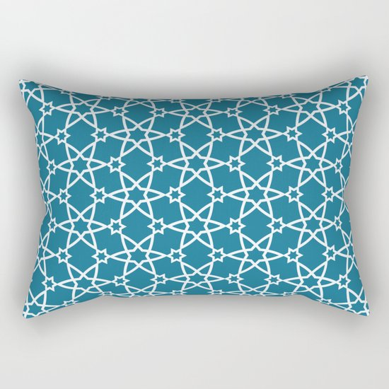 Geometric blue-white pattern Rectangular Pillow
