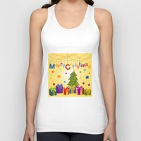 merry christmas Tank Tops featuring Merry Christmas by itsme.emi