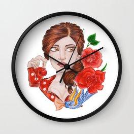 Modern Snow White Wall Clock