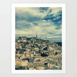 I sassi di Matera Art Print