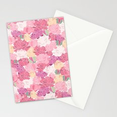 Rose Peony Flowers Stationery Cards