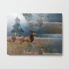 Illusion Stag Metal Print