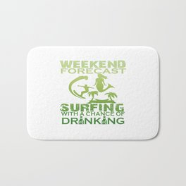 WEEKEND FORECAST SURFING Bath Mat