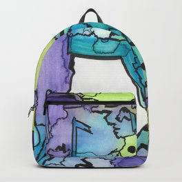 Oxhorn Abstract Watercolor Fine Art Painting Backpack