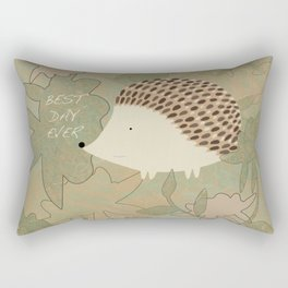 Hedgehog Best Day Ever Rectangular Pillow