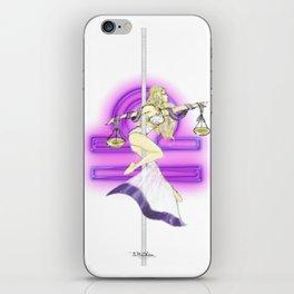 Libra Zodiac Pole Dancer iPhone Skin