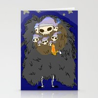 dark souls Stationery Cards featuring Dark Souls- Goodnight Nito by Mango Mamacita