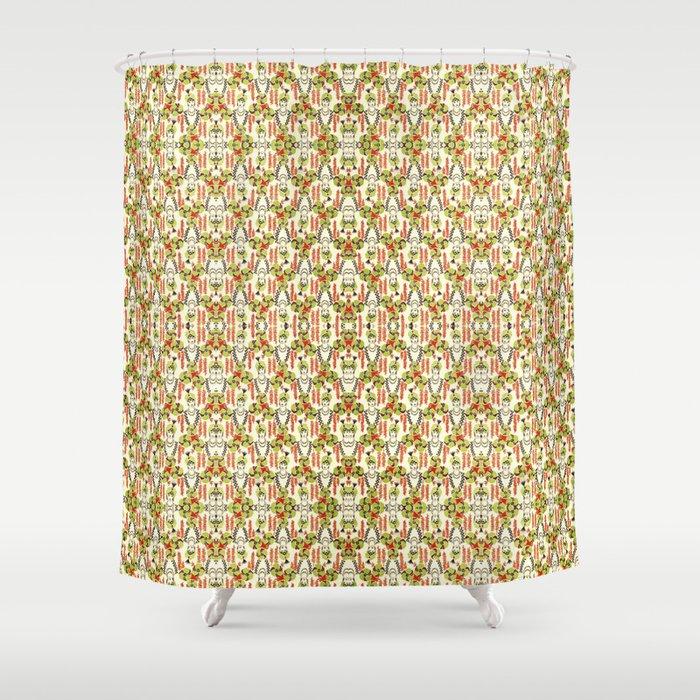 Woman Garden Pattern Shower Curtain