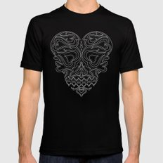 Heart Inside LARGE Mens Fitted Tee Black