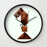 knight Wall Clocks featuring KNIGHT by TANGRAMMAR