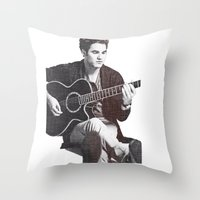darren criss Throw Pillows featuring Darren Criss by kltj11