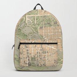 Vintage Map of Washington DC (1892) Backpack