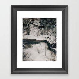 Winter Falls Framed Art Print