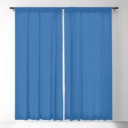 Mid-tone Cobalt Blue Solid Color Pairs to Valspar America Peek-A-Boo Blue 4007-10-C Blackout Curtain