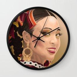 Women portrait Wall Clock