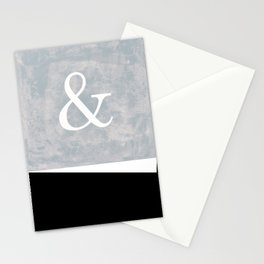 & And symbol on a grunge textured background Stationery Cards