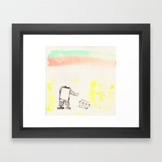 I've dropped my head, but people don't seem to notice  Framed Art Print
