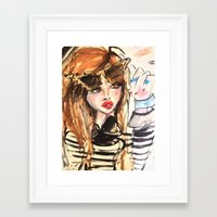 french Framed Art Prints featuring french by BlondeLasagna By Blair Breitenstein