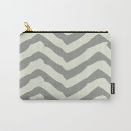 Chevron | Gray & Ivory Carry-All Pouch