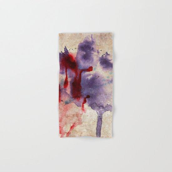 Purple Color Splash Hand & Bath Towel