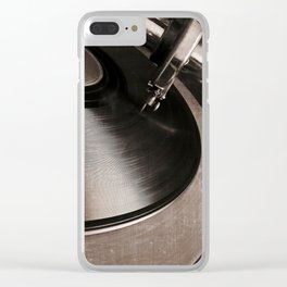 old tracks Clear iPhone Case