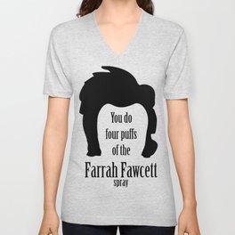 Farrah Fawcett Unisex V-Neck