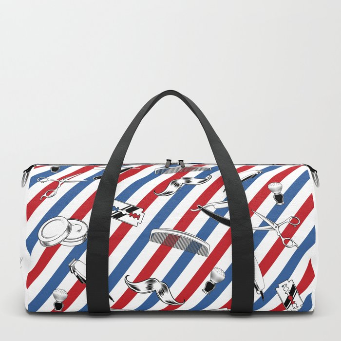 Barber Shop Pattern Duffle Bag